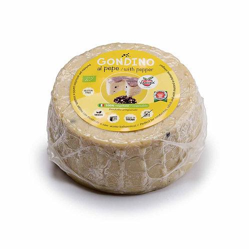 Gondino W/ Peppercorns - Organic cheese block- Pangea Italian vegan foods