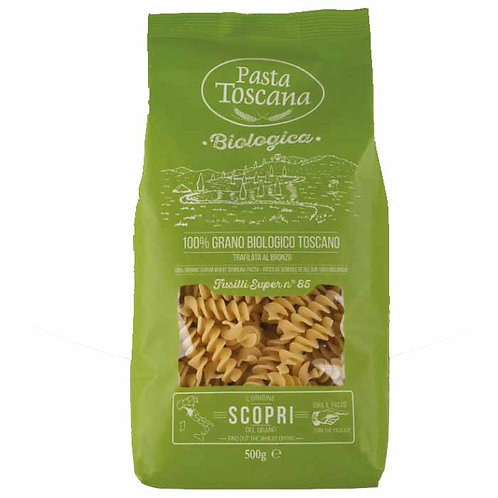Fusilli organic Pasta Toscana bronze drawn Italian classic shop online with worldwide delivery how to cook recipes