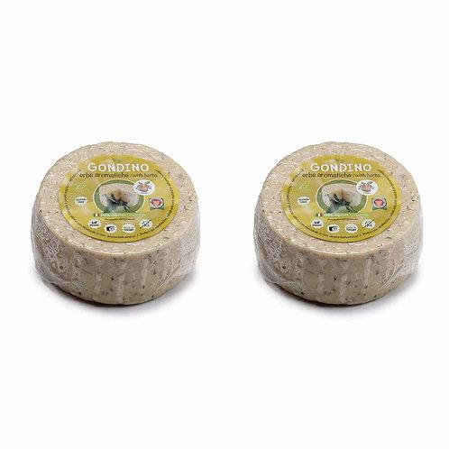 Gondino with Herbs - Organic Vegan cheese block - Pangea Italian vegan food