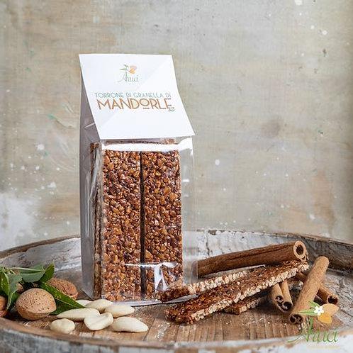 shop online Nougat of organic Sicilian almond grains torrone siciliano Aruci