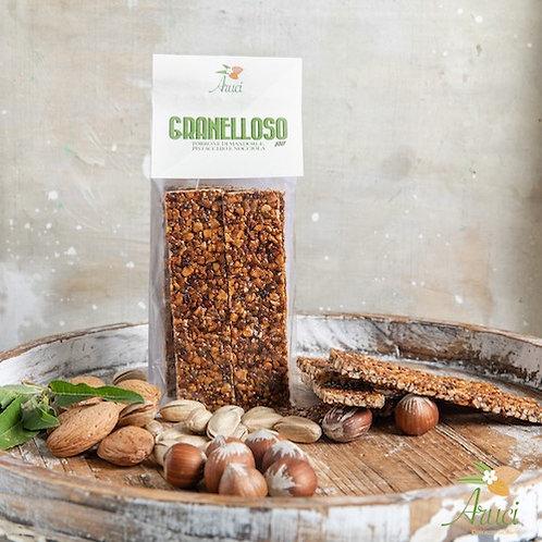 Shop online Granelloso nougat with organic sicilian almonds torrone Aruci