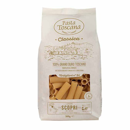 Tortiglioni Pasta Toscana bronze drawn Italian classic shop online with worldwide delivery how to cook recipes