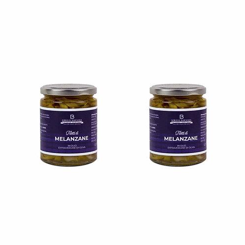 Aubergine strips in Extra Virgin Olive Oil - Sorelle Barnaba