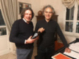 Loreno Michielin, founder at 32 Via dei Birrai meets Andrea Bocelli