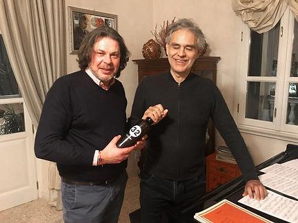 Loreno Michielin, founder at 32 Via dei Birrai meets Andrea Bocelli