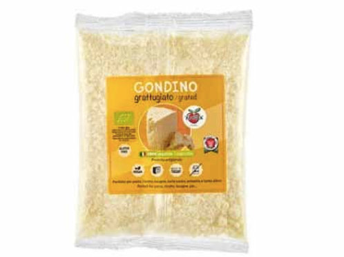Grated Seasoned Gondino - Organic cheese - Pangea Italian vegan foods