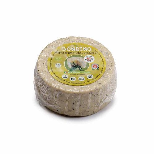 500g Gondino W/ Herbs - Organic vegan cheese block - Pangea Italian foods company