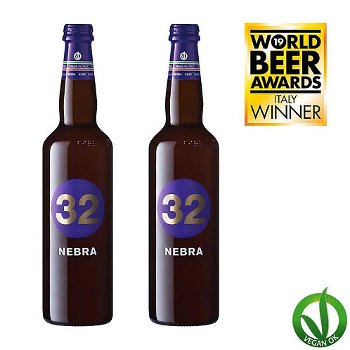 nebra italian vegan craft beer 32 via dei birrai brewed by italian microbrewery awarded