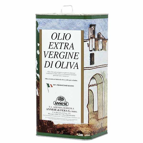 1x 3Lt. Extra virgin delicate olive oil from Apulia - Puglia Italy online shop delivery italian