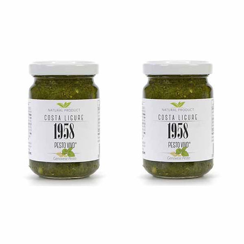 Genoese Basil Pesto Vivo Costa Ligure 1958 Ready Made Sauce