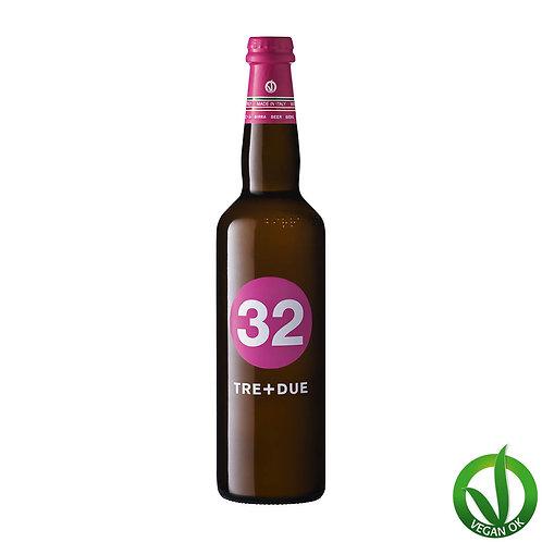 TRE+DUE italian vegan craft beer 32 via dei birrai brewed by italian microbrewery awarded