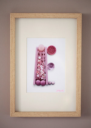 E Rose paillettes (21x29,7cm)
