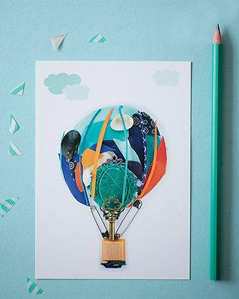 Tour en montgolfière