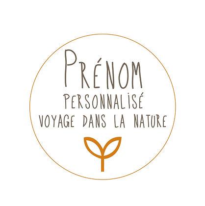 Prénom Voyage dans la nature personnalisé