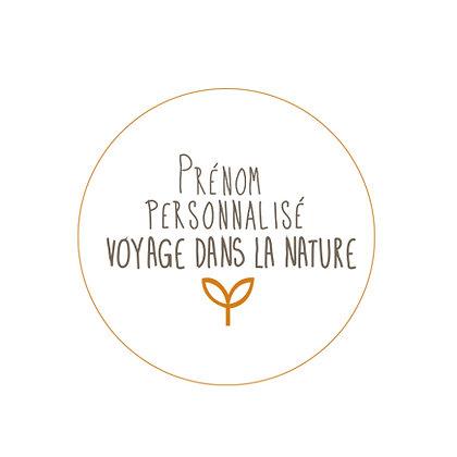 Prénom personnalisé Voyage dans la Nature