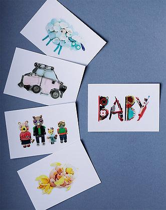 Pochette 5 stickers Baby