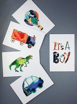Pochette 5 stickers garçon