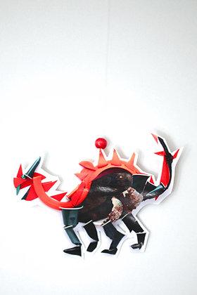 Mini mobile Dino Rouge