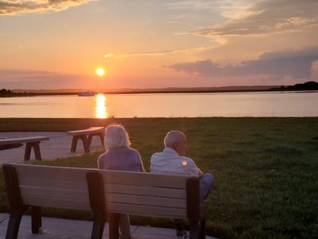 A Wildwood Sunset At The Lake
