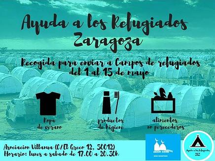 Ayuda a los refugiados desde Zaragoza