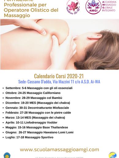 amgi calendario corsi 2020-21