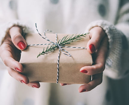 Woman's hands hold christmas or new year