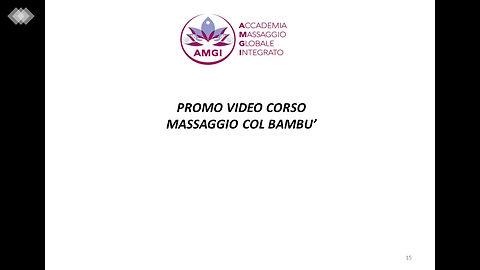 Promo Video Corso di Massaggio col Bambù