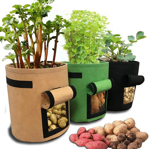 3 Size Plant Grow Bags Garden Potato Greenhouse Vegetable Growing Container
