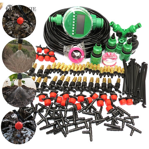 Automatic Garden Watering System Kit Irrigation Drip Mist Spray Cooling System