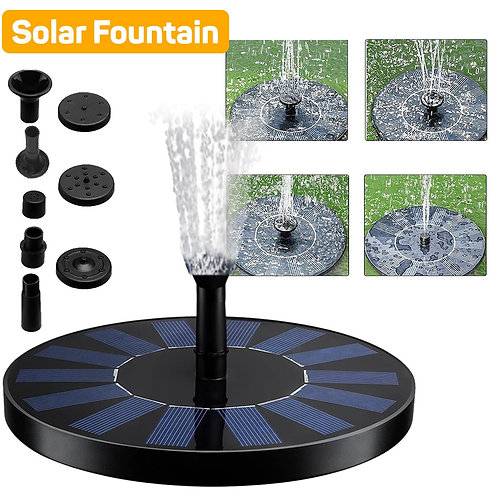 Floating Solar Panel Powered Fountain Garden Water Pool Pond Decoration Pump