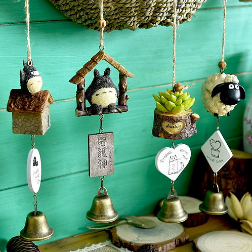 Cartoon Wind Chime Home Decoration Cute Room Bell Pendant Birthday Gift Totoro