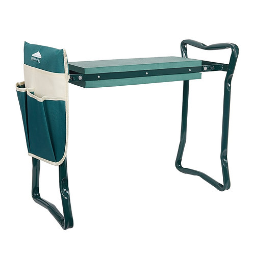 Garden Kneeler Seat Folding Steel Stool Tool Bag Kneeling Pad Gardening