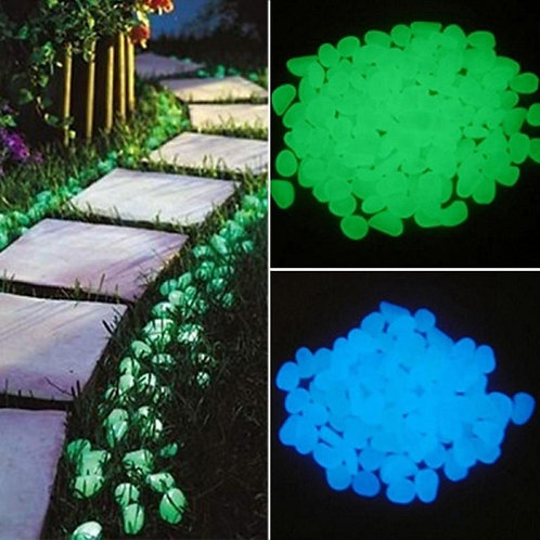 25/50pcs Glow in the Dark Garden Pebble Stone Rock Walkway Patio Lawn Yard Decor