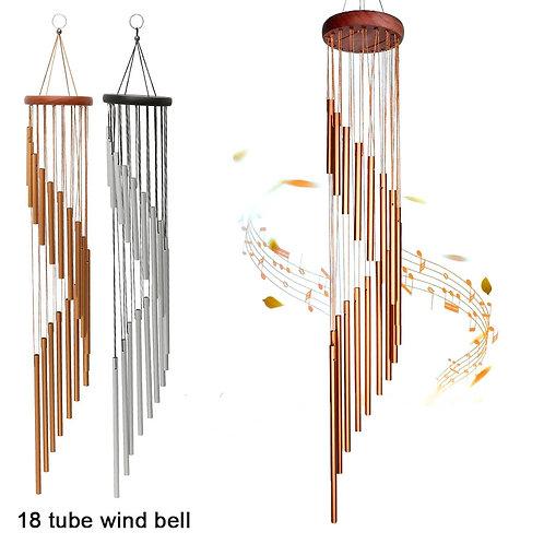 18 Tube Wind Chimes Metal Bells Handmade Garden Patio Outdoor Wall Hanging Decor