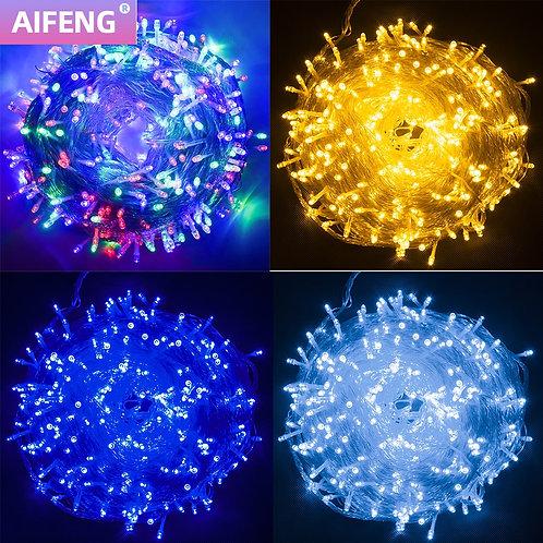 Outdoor Christmas Lights LED String 100M 10M 5M Fairy Light Holiday Lighting