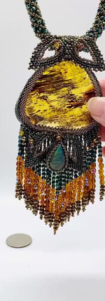 Beaded Amber Necklace