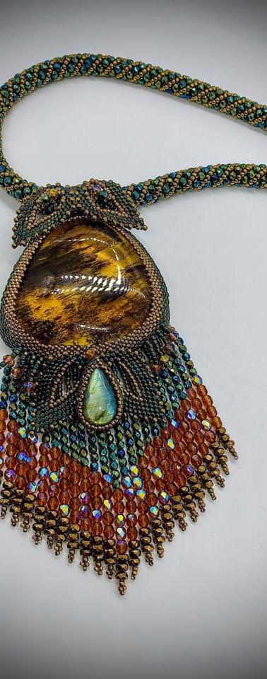 Pietersite Beaded Necklace