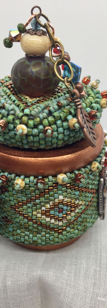 Turquoise Beaded Box
