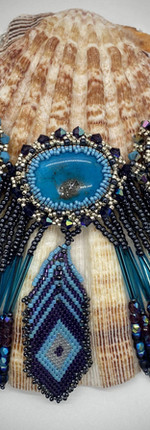 Blue and Black Necklace