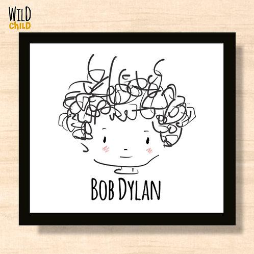 Quadro Infantil Bob Dylan - 20cm x 20cm