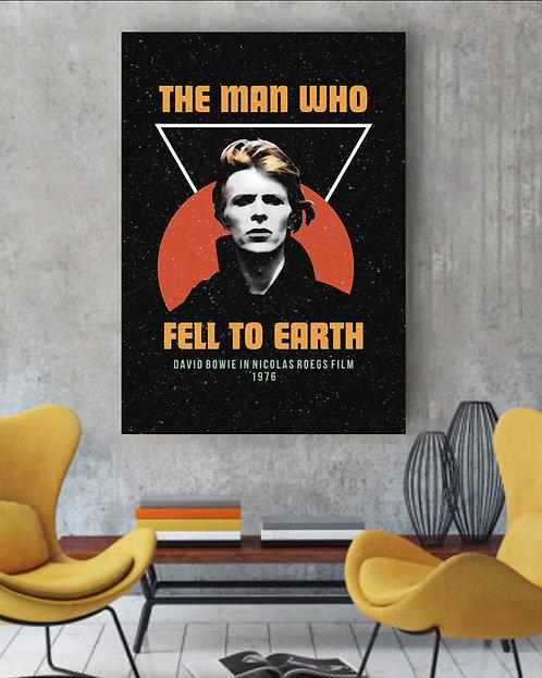 Poster David Bowie - O Homem Que Caiu na Terra