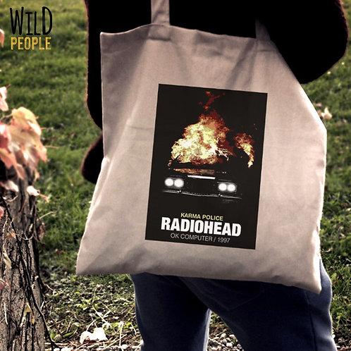Ecobag Radiohead - 100 % Algodão Cru