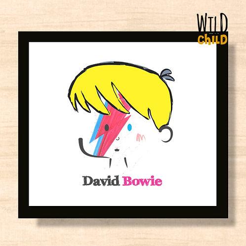Quadro Infantil David Bowie - 20cm x 20cm