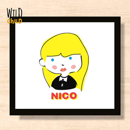 Quadro Infantil Nico - 20cm x 20cm