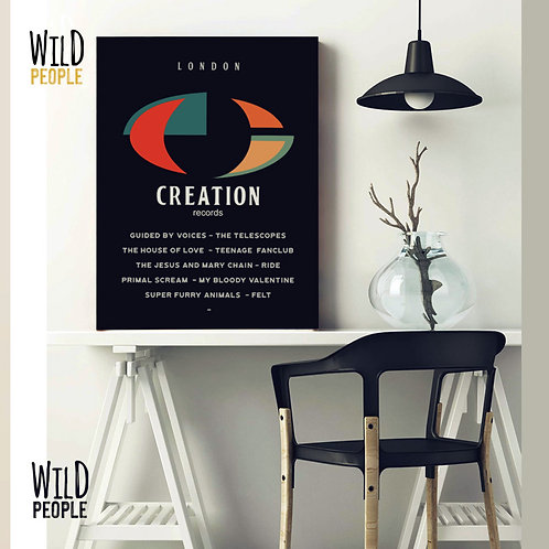 Quadro Creation Records - 40cm x 60cm