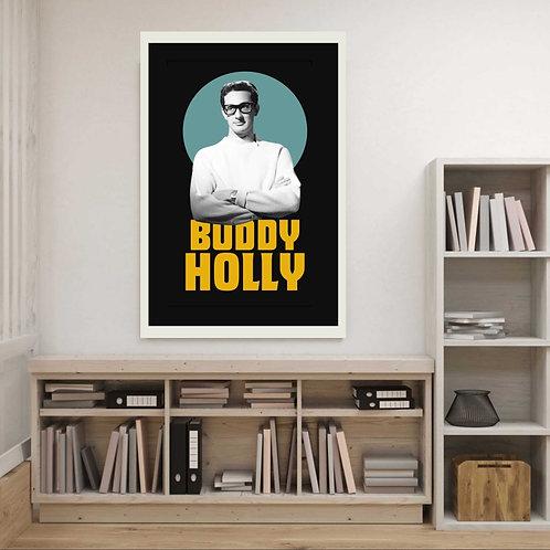 Poster Buddy Holly - Coleção 50's