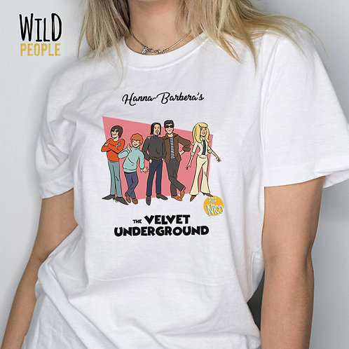 Camiseta The Velvet Underground - Hanna Barbera - Silk Digital