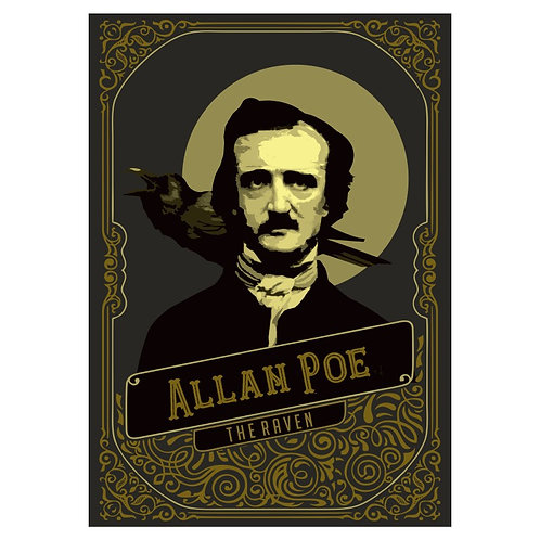 Camiseta Edgar Allan Poe - The Raven