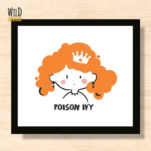 Quadro Infantil Poison Ivy - 20cm x 20cm