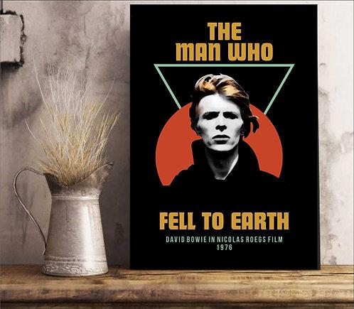 Quadro David Bowie - O Homem Que Caiu na Terra - Filme 1976